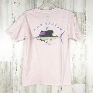 Guy Harvey Light Pink Fish Tee T-shirt Small